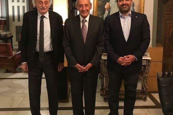 جنبلاط بعد لقائه بري والحريري: تحصين لبنان يجب ان يبقى اولوية