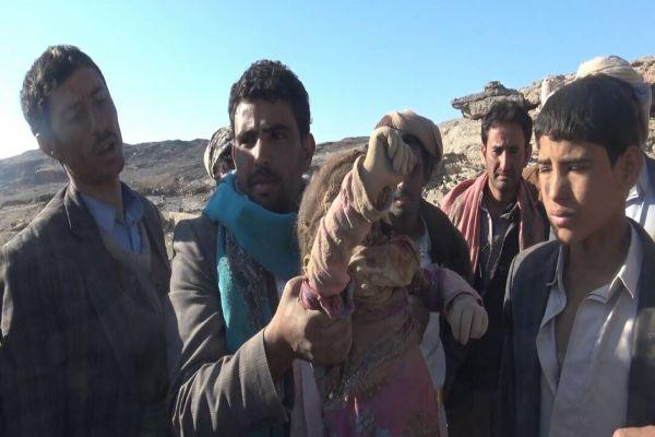 العدوان السعودي يرتكب مجزرة مروعة في سحار بصعدة(صور)