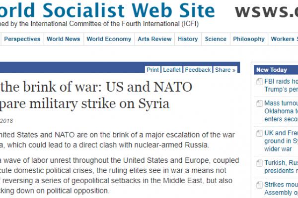 موقع امريكي: لماذا تعدّ أمريكا والناتو لضربة عسكرية ضد سوريا
