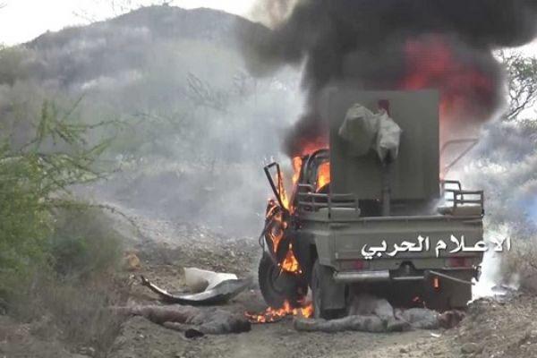 تدمير 9 آليات لمرتزقة الجيش السعودي في نجران وجيزان