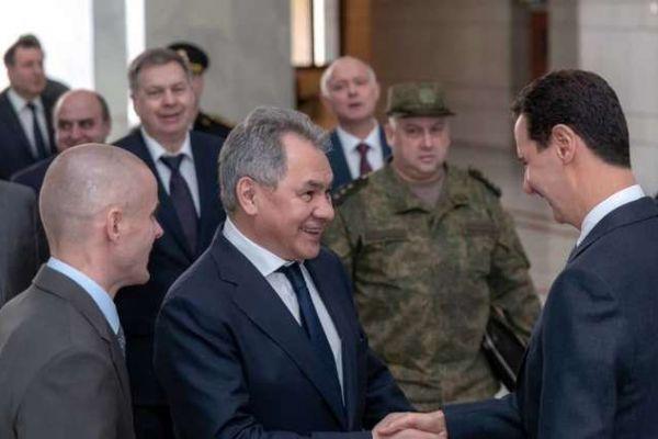 وزير الدفاع الروسي ينقل رسالة من بوتين إلى الأسد