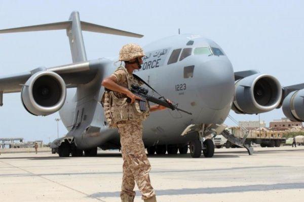 انسحاب القوات الإماراتية والسودانية من أكبر قاعدة جوية عسكرية باليمن
