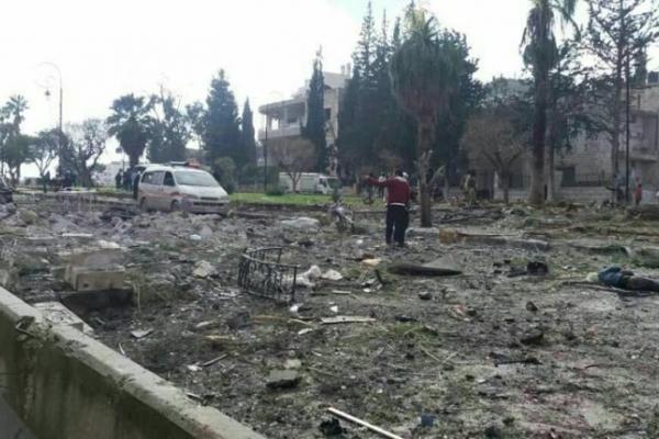 انفجاران متتاليان في إدلب يخلفان قتلى وجرحى