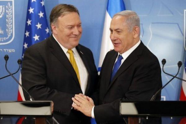 بومبيو في تل أبيب: دعم نتنياهو والائتلاف الإقليمي ضد إيران