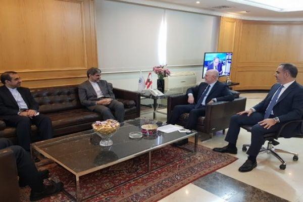 بحث تطویر العلاقات التجارية بین ایران ولبنان