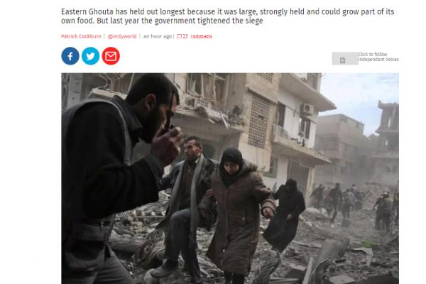 ماذا قالت الاندبندنت عن معركة الغوطة الشرقية؟