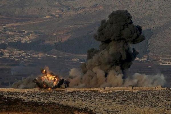الجيش السوري يقصف منصات الصواريخ التي استهدف بها العدوان التركي امس قافلة تحمل مواداً اغاثيةً  الى عفرين